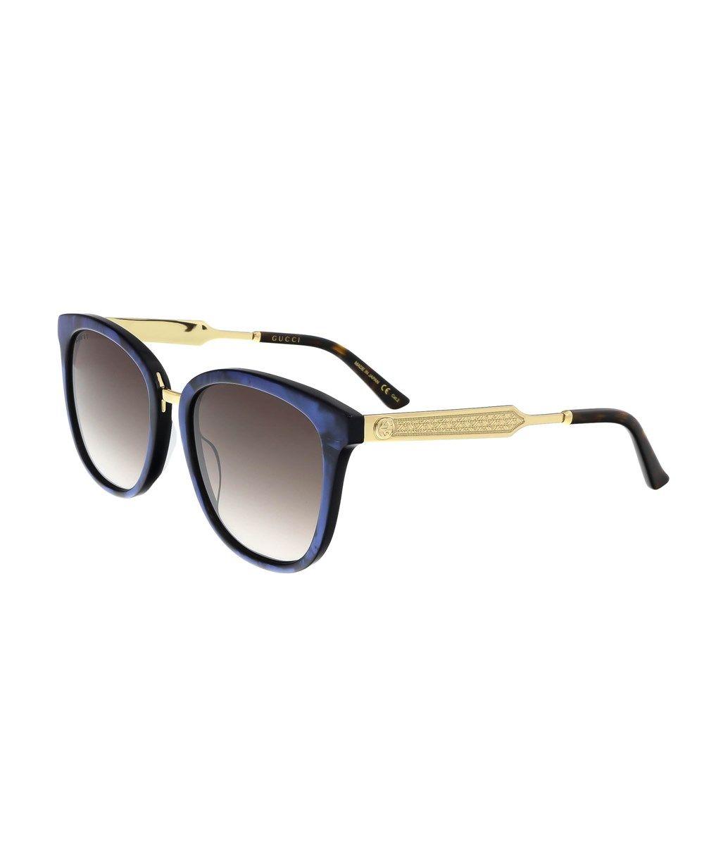 60f44b9c56 GUCCI Gg0073S 005 Blue Round Sunglasses .  gucci  sunglasses