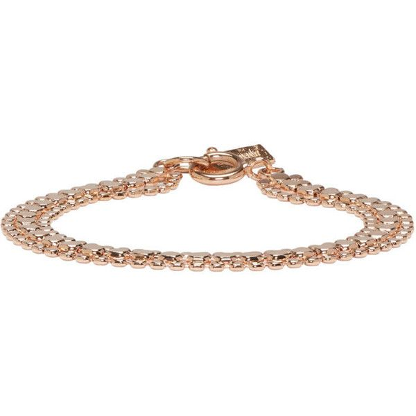 Isabel Marant Rose Gold Hunter Multi Chain Bracelet 165 liked