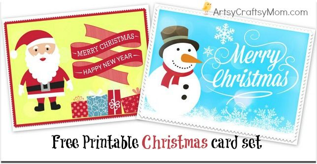 2 free printable christmas cards print at home christmas for