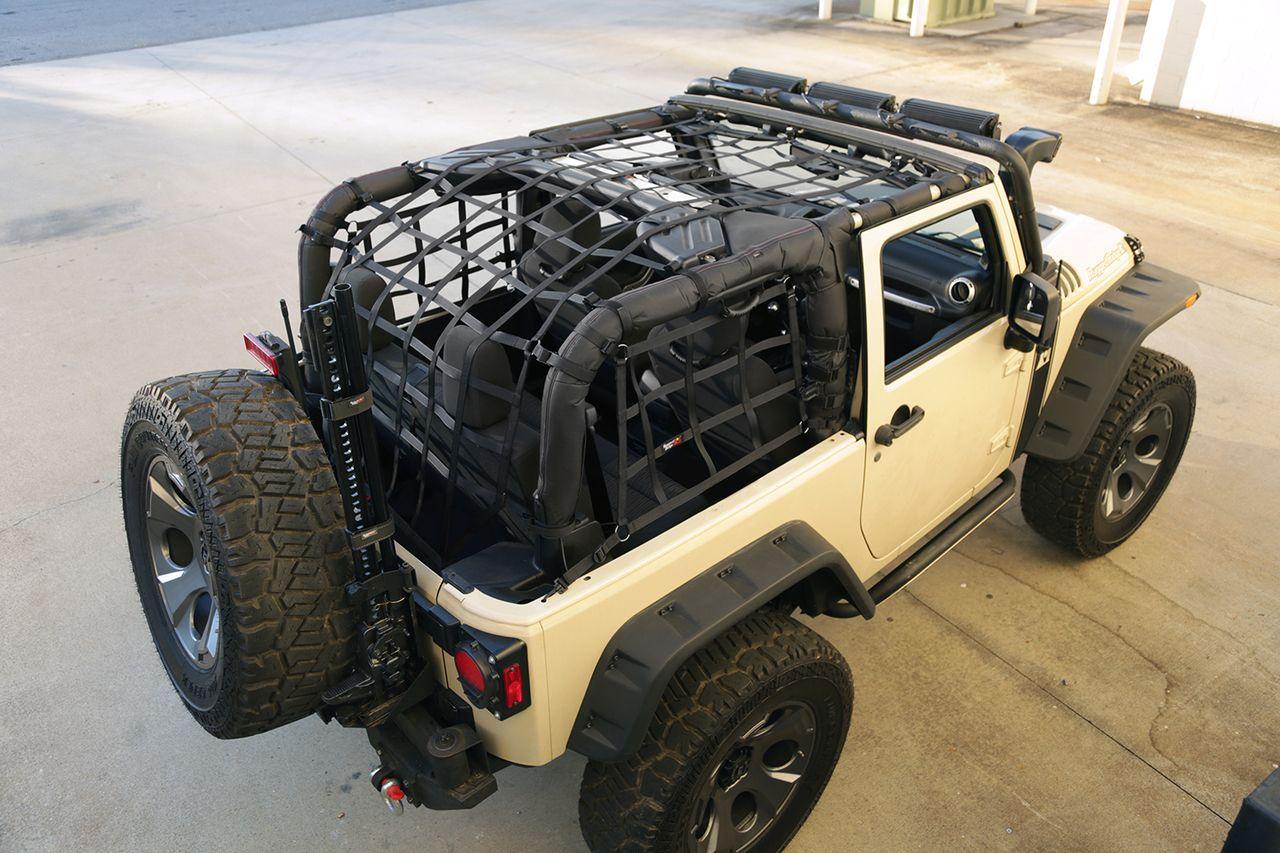 Cargo Net Black 07 16 Jeep Wrangler Jk 2 Door Crawltech