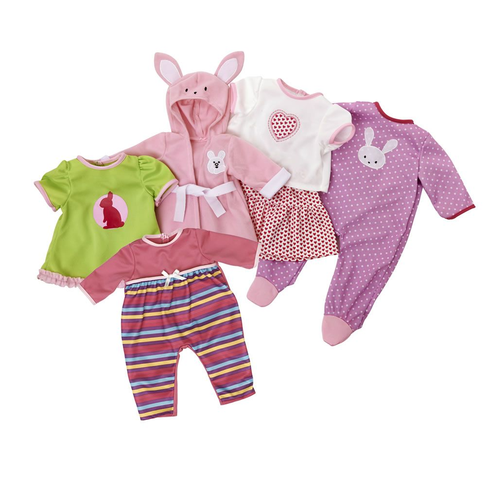 Wilko Play Cute Baby Doll Outfits x 5 at wilko.com