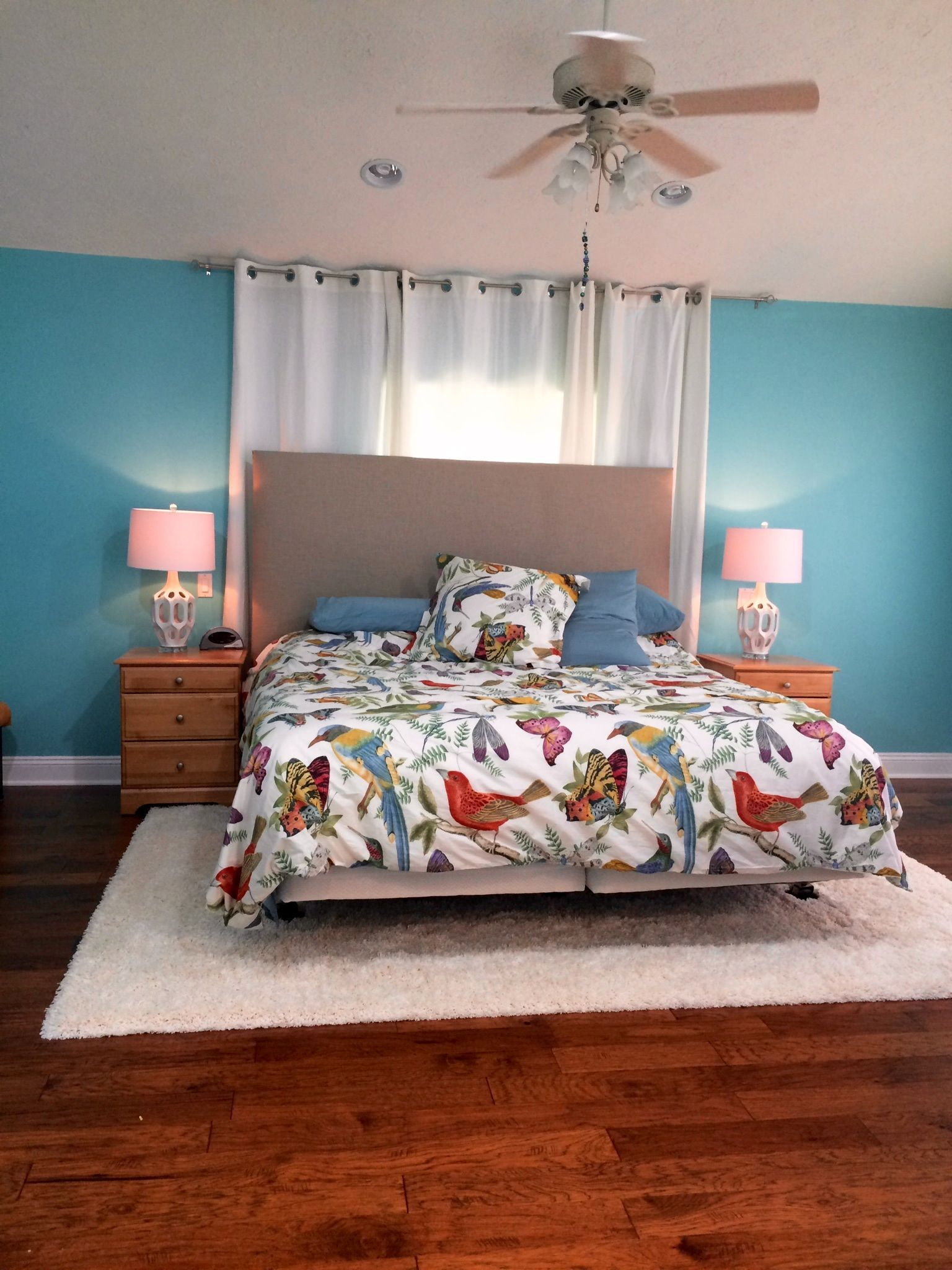 Best Our Master Bedroom Is Finally About 90 Complete Pottery Barn Fauna Bedding Retro Lamps From 400 x 300