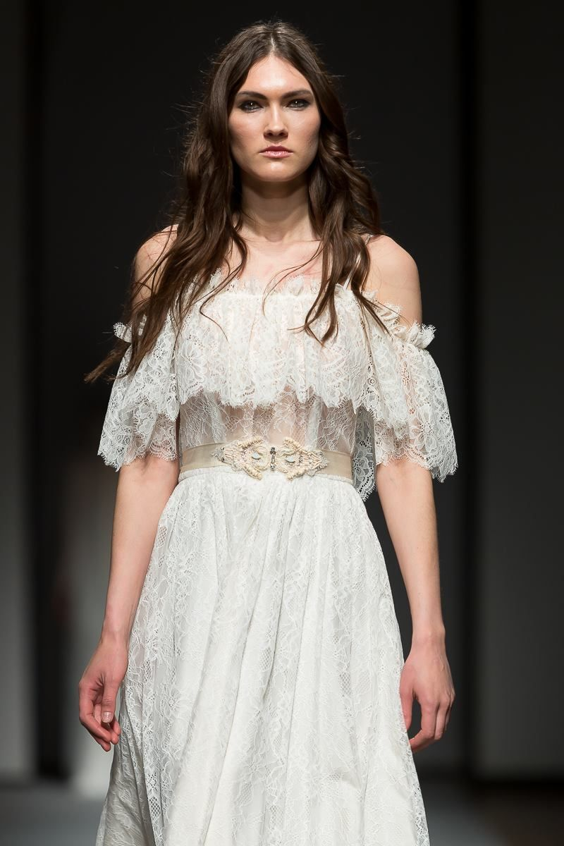 Modern vintage wedding dresses  French lace vintage inspired wedding gown for the modern bohemian