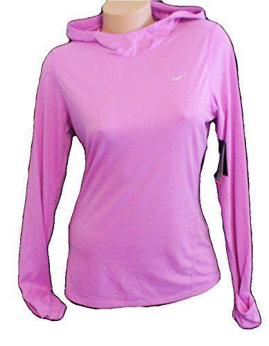 NIKE Nike Womens Soft Hand Long Sleeve Running Athletic Shirt Pink. #nike #cloth #