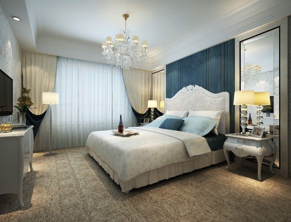 Blue bedroom decoration pale blue style bedroom interior design 3d blue style bedroom