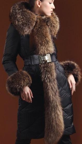 Belted Fur-Trim Puffer Coat   урт   Coat, Raincoat, Hooded raincoat 27e0375438b