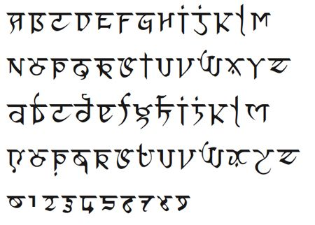 An Indian-looking font