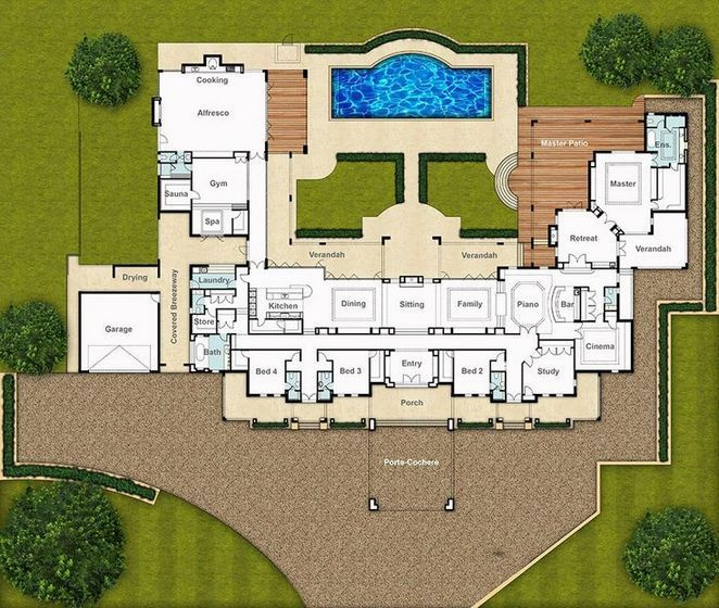 36 Unanswered Issues With Modern Mansion Floor Plan Luxury Revealed Apikhome Com Mansion Floor Plan Country Floor Plans House Plans