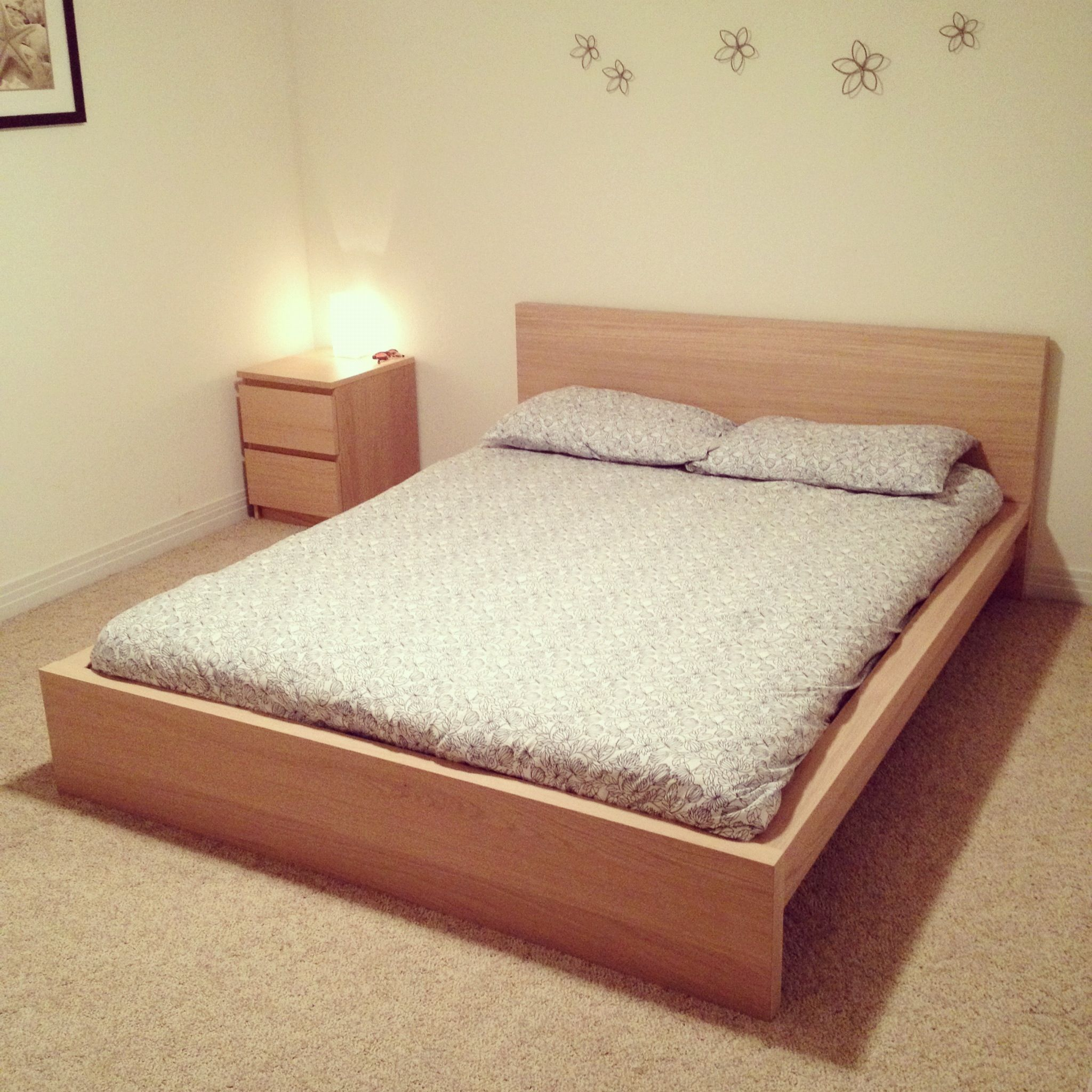 Ikea malm bed with side dresser for the home pinterest for Queen bed frame and dresser set
