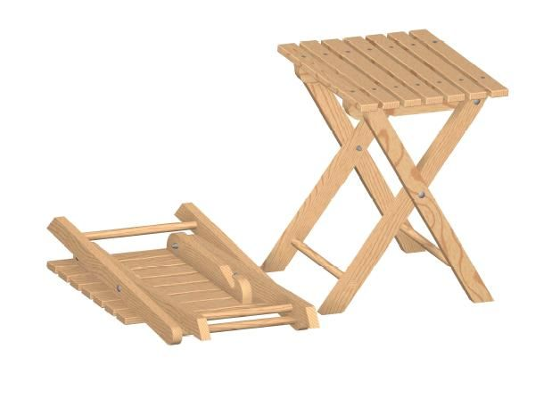 Werkstatt Hocker Klapphocker Holz Klapptisch Selber Bauen