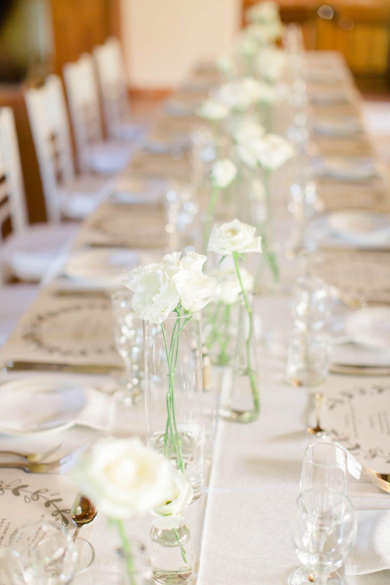 Elegant White Green Wedding Carolien Ben Photography