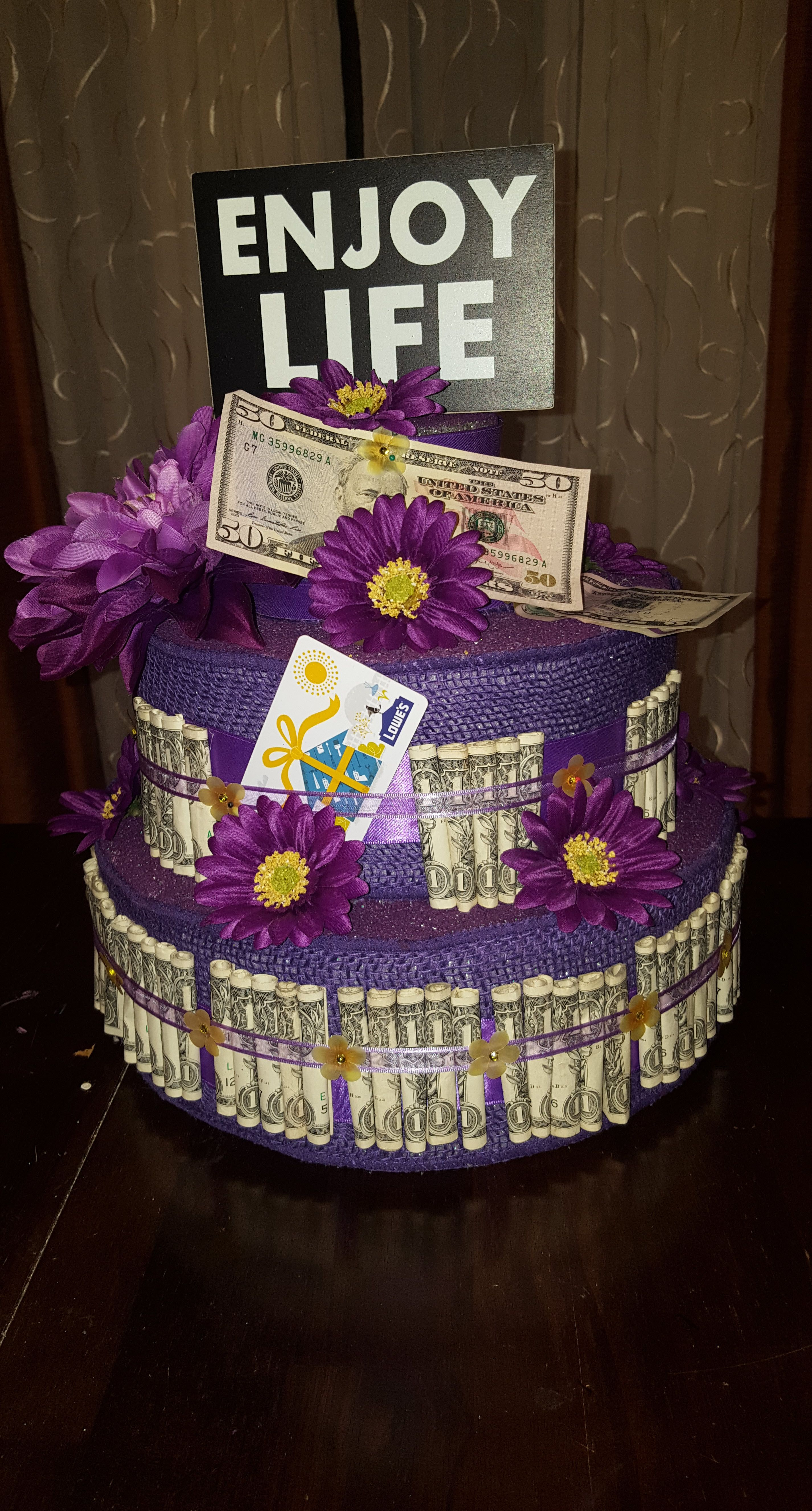 Retirement Money Cake