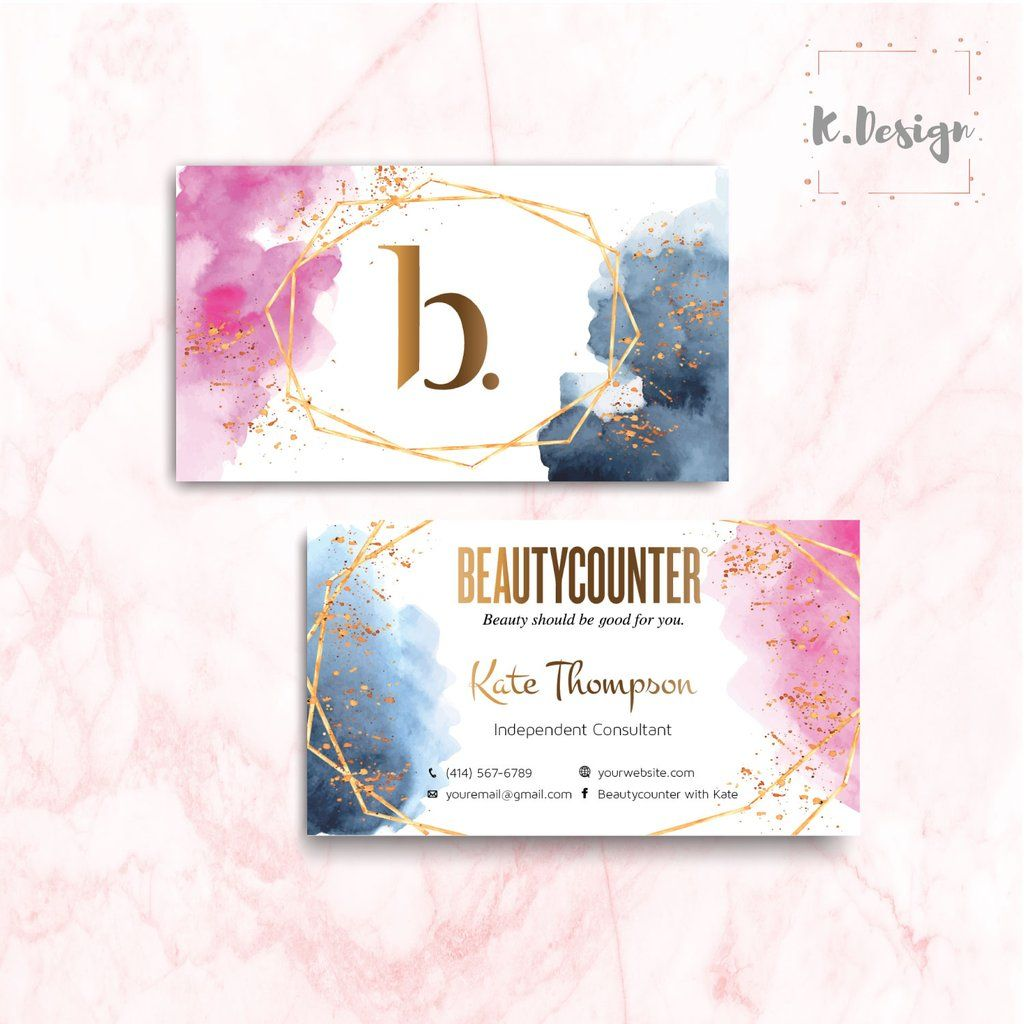 Beauty Counter Business Cards Personalized Beauty Counter Cards Bc03 In 2020 Beautycounter Business Beautycounter Floral Business Cards