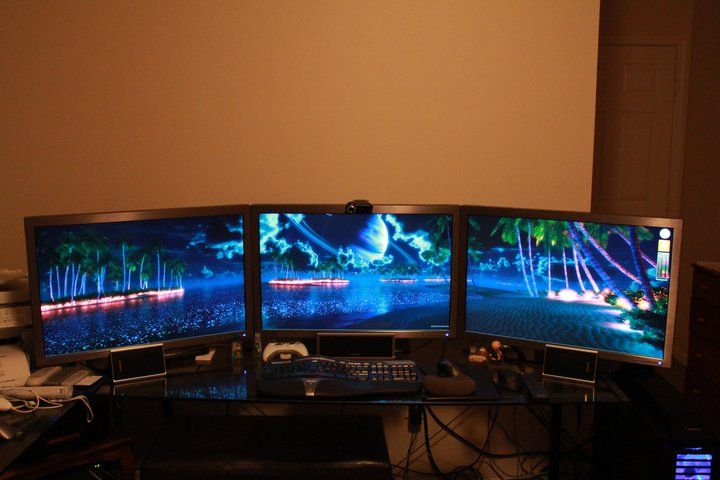 Beautiful 3 Screen Multi Monitor Space Wallpaper