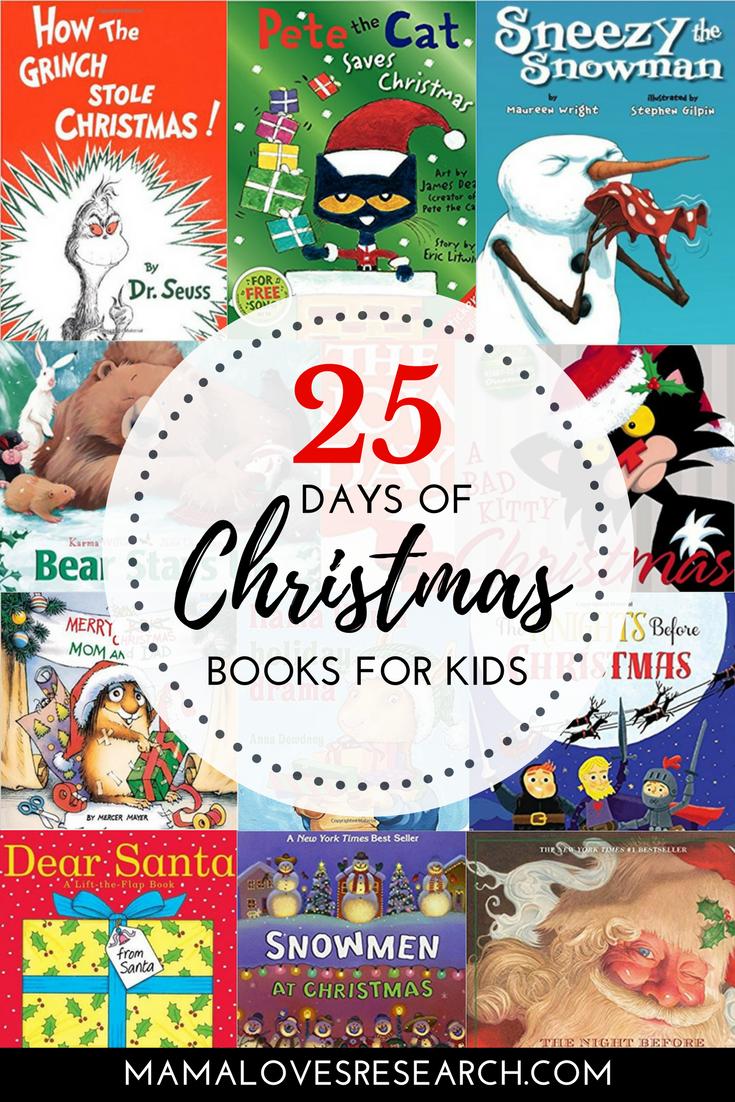 25 Days of Christmas Books for Kids   Christmas   Pinterest ...