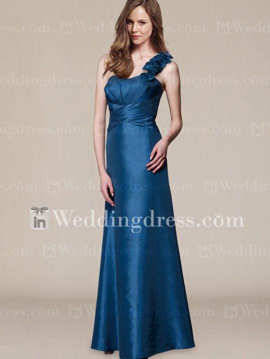 Elegant One Shoulder Bridesmaid Dress Style BR322