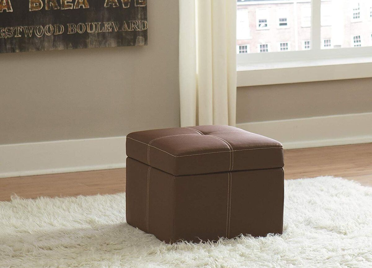 24 Trendy Hassocks And Ottomans To Make Your Room More Relaxing Small Storage Ottoman Square Storage Ottoman Storage Ottoman