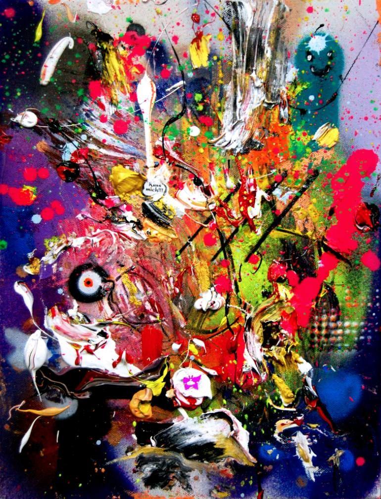 "Saatchi Art Artist Marc Jung; Painting, ""WHITE FERRARI, 2016, mixed media on canvas, 40x30cm"" #art"