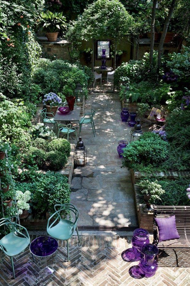 innen außen – üppig bepflanzter Patiogarten – Mailand – Foto Giorgio Possenti www.w #presidents