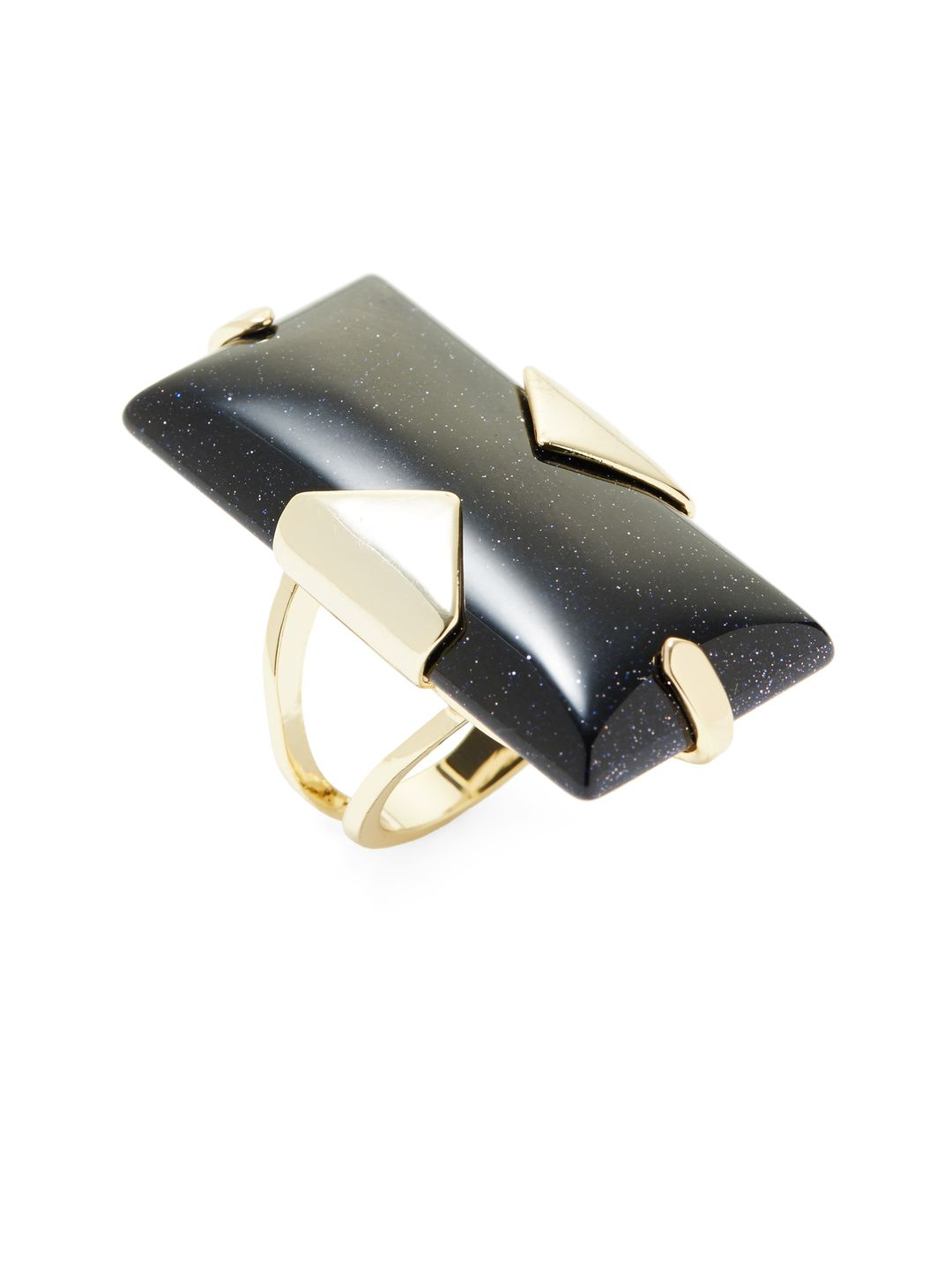 Tobin Blue Goldstone Ring by Kendra Scott Jewelry at Gilt