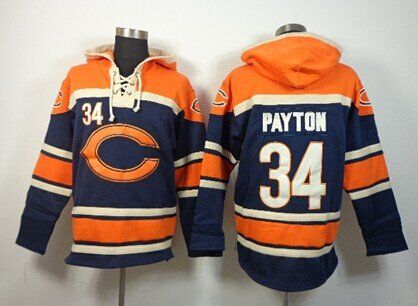 Chicago Bears Hockey Style Jersey Hoody Chicago Bears Jersey Nfl Sweatshirts Nfl Jerseys