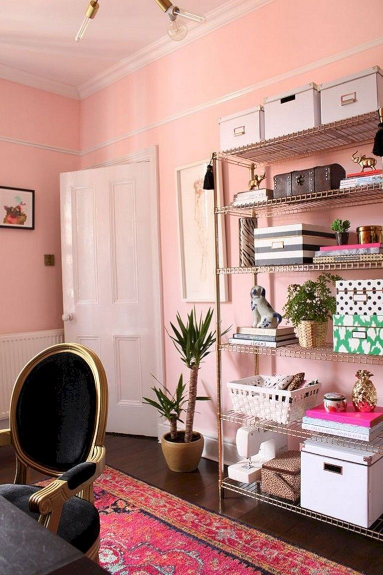 30 nice romantic pink home offices color scheme ideas on office color palette suggestions id=92235