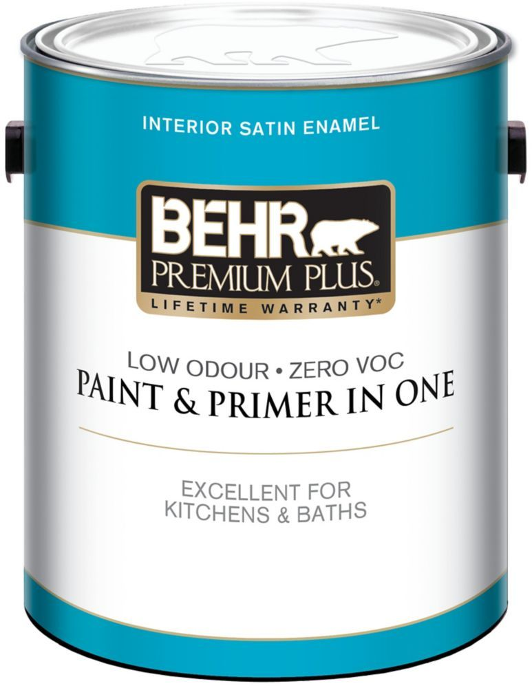 BEHR PREMIUM PLUS Interior Satin Enamel Paint - Deep Base