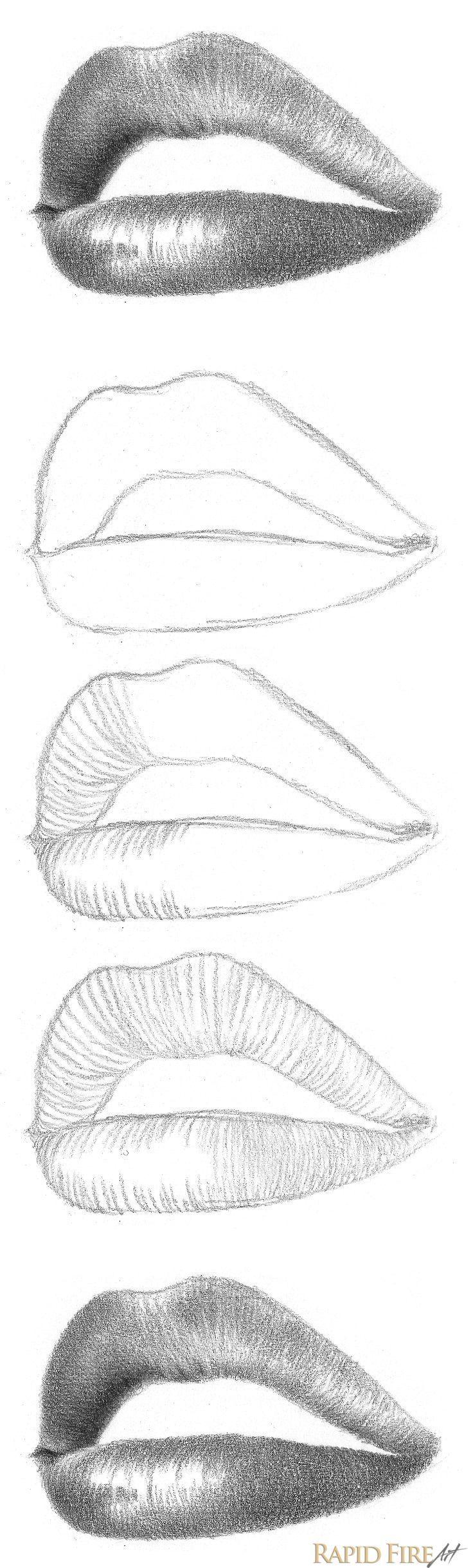 How To Shade Pencil Shading Techniques Dibujos De Labios Como Dibujar Labios Dibujos