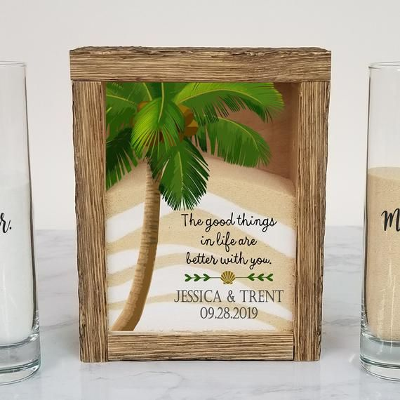 Beach Wedding Candle Ceremony: Beach Wedding Sand Ceremony Set, Rustic Unity Sand