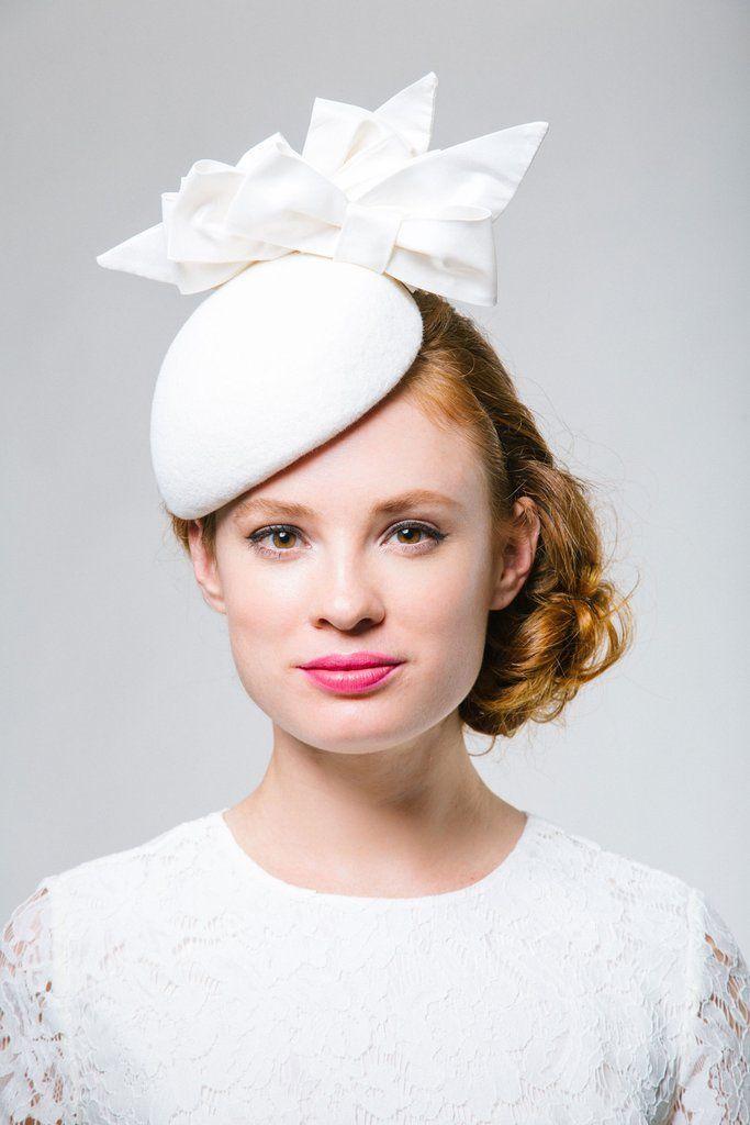 Helena: Bridal Mini Beret with Silk Bows #summerdinneroutfits Helena: Bridal Mini Beret with Silk Bows #summerdinneroutfits