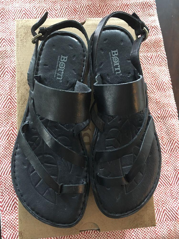 Born Favignana Black leather sandals