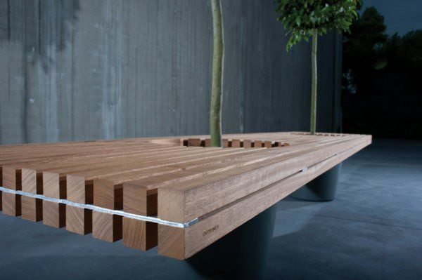 Holzbank selber bauen - gemütliche Sitzecke für Ihren Garten Modern
