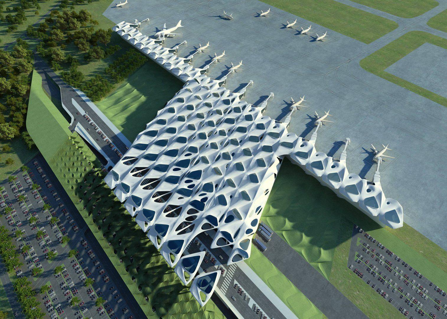 New Passenger Terminal And Masterplan Zagreb Airport Masterplans Zaha Hadid Architects Arquitectura Diseno Urbano Arquitectos