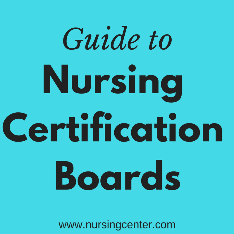 List of certification boards with contact information and available ...