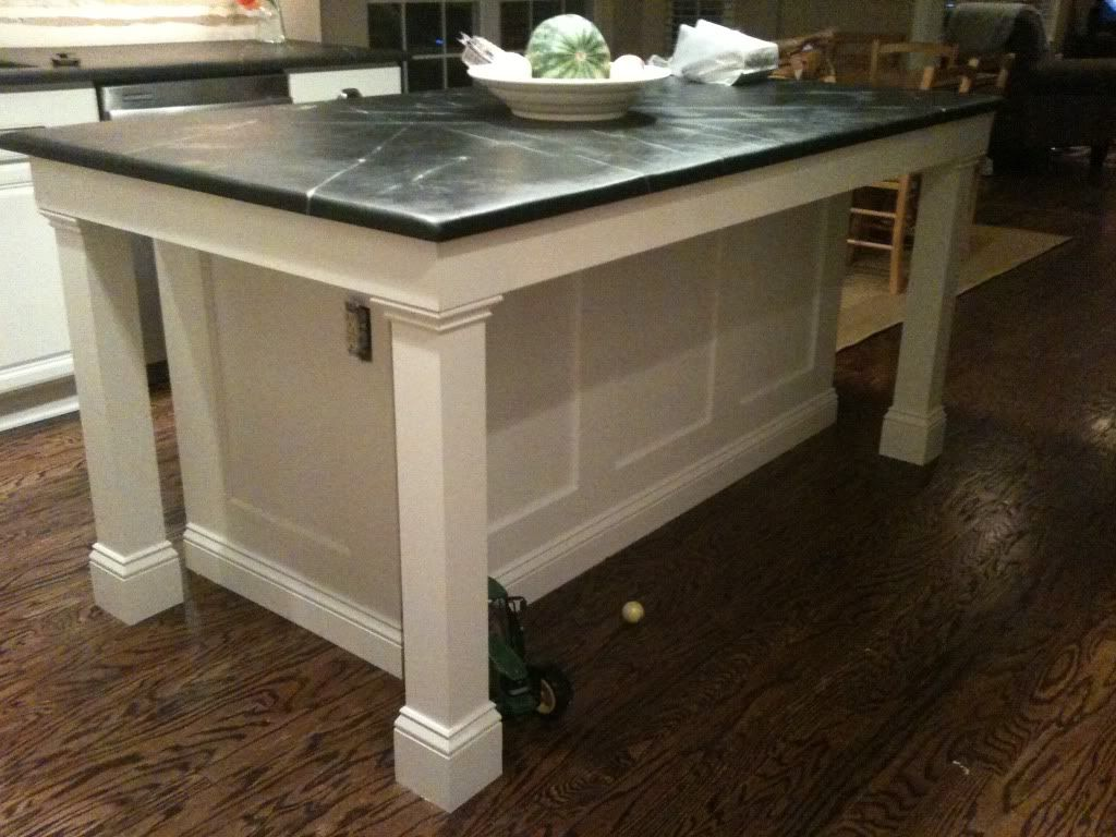 Island Paneling Option With Legs Detail On Front Toe