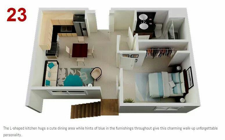 Interior Designs One Bedroom Apartment Apartment Plans Floor Plan Design