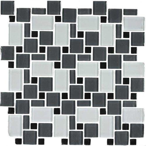 found it at wayfair unity random sized glass mosaic tile in black rh pinterest com