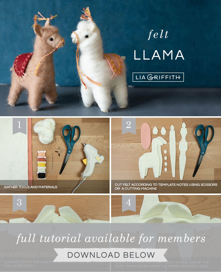 Needle-Felted Llamas with Accessories - Lia Griffith #needlefelting