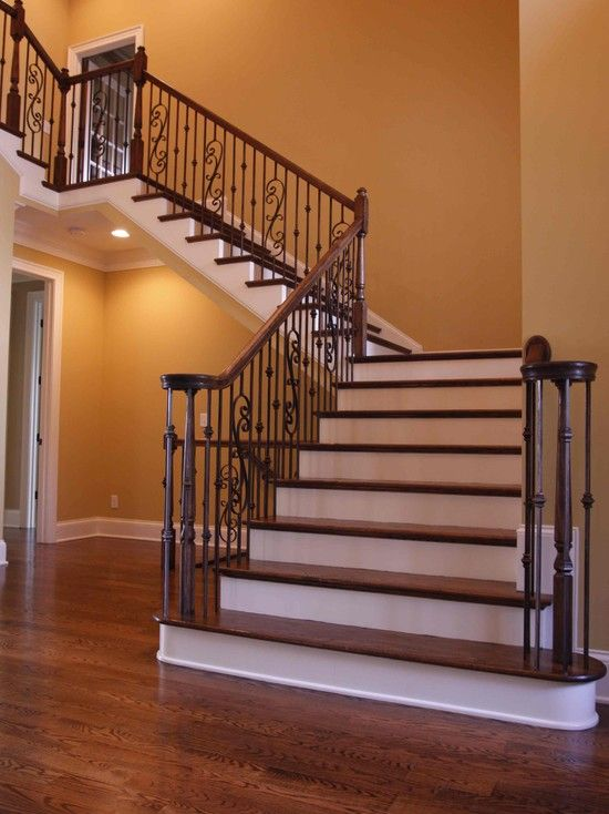 Rod Iron Stairs Design, Pictures, Remodel, Decor and Ideas ...