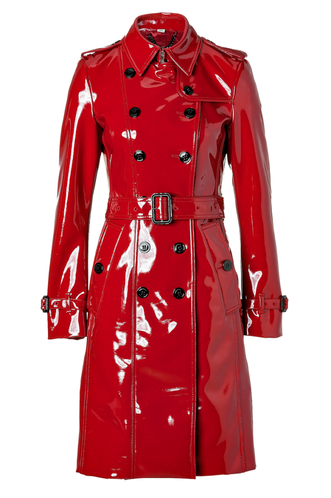 Styling The Lacquer Red Burberry London Queenscourt Trench