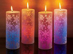 velas decoradas que cambian de color decoracin de interiores - Velas Decoradas