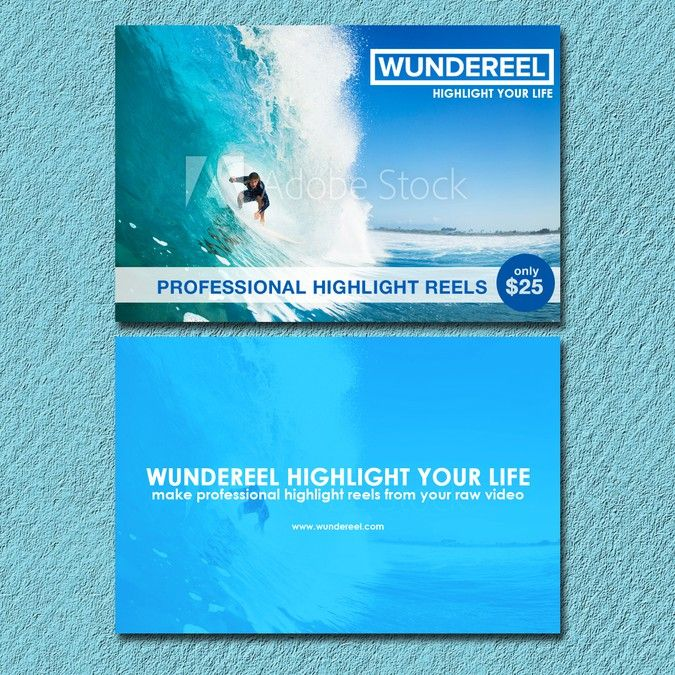 Help Wundereel design a double-sided, exciting flier to hand out to customers by Wolfie316