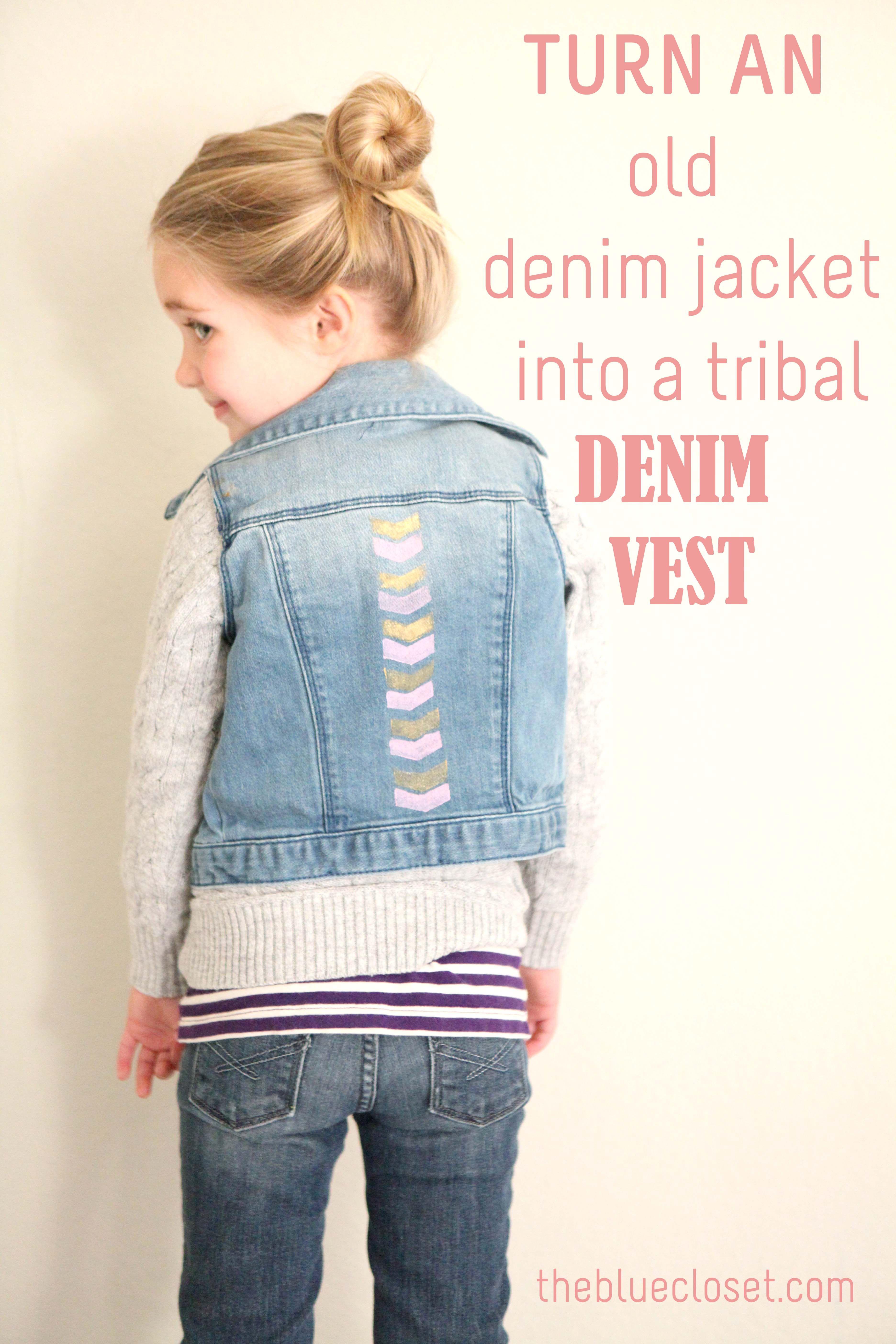 how to make a denim vest