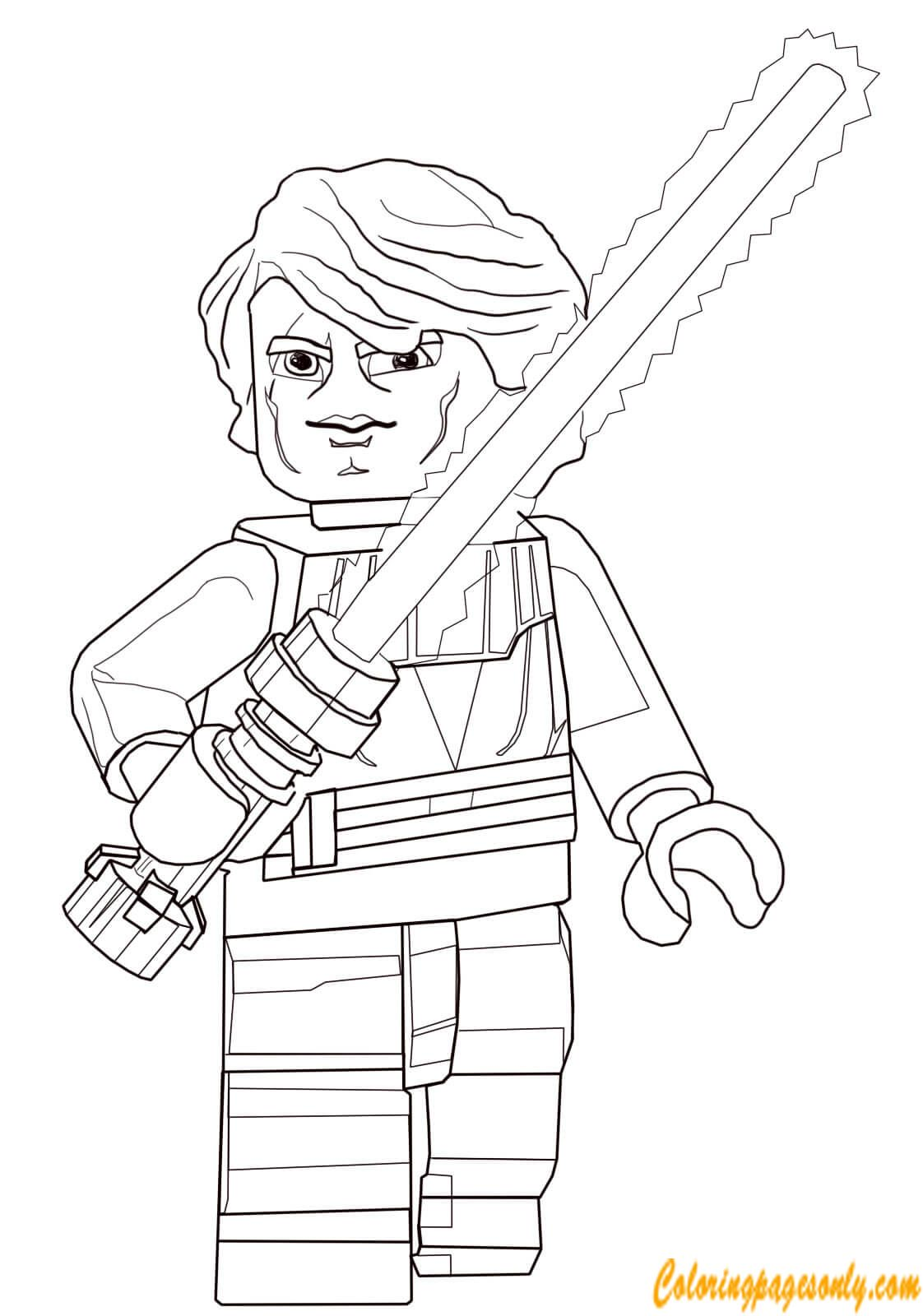 Anakin Skywalker From Lego Star Wars Coloring Page http ...