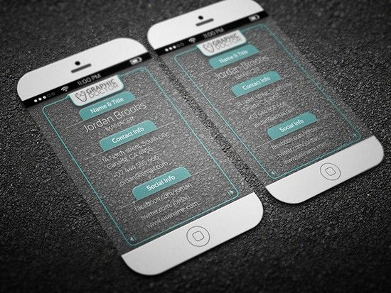 iPhone 6(Transparent) Business Card Template | business card ...