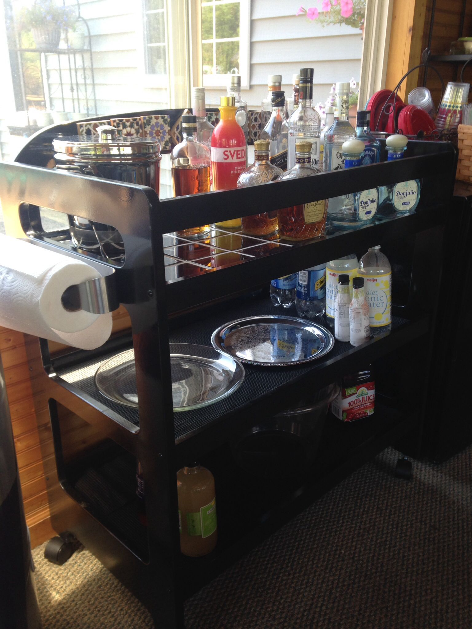Changing Table to Drink Cart | Repurpose Baby Crib/Changing Table ...