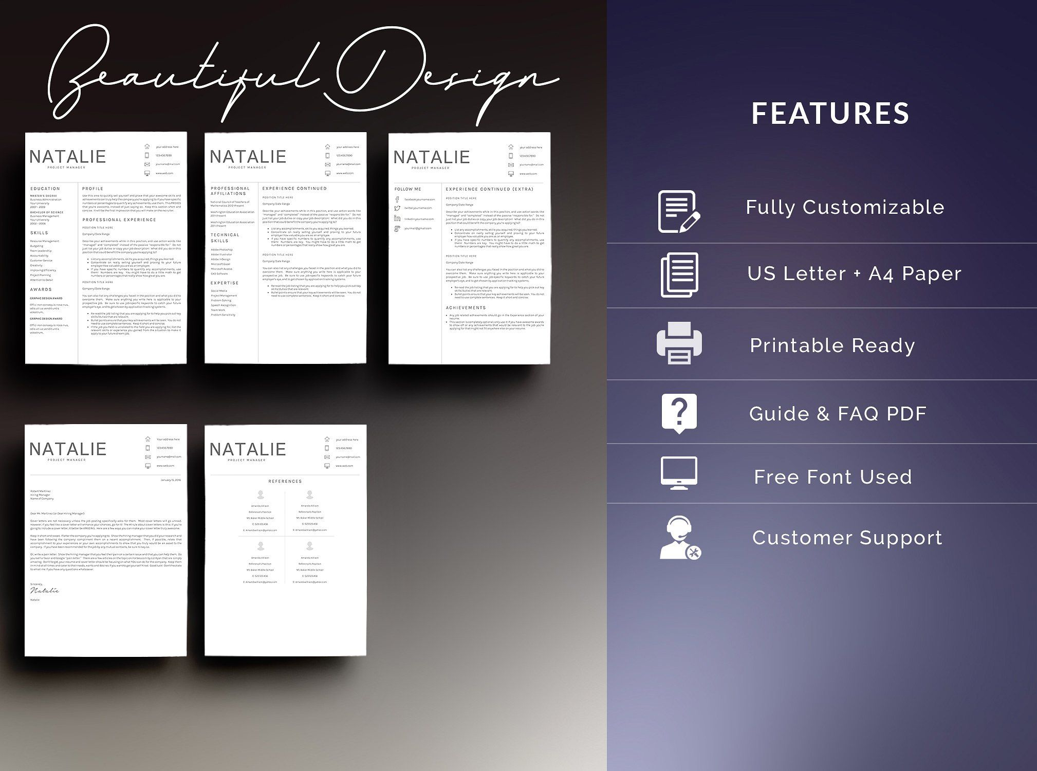Resume Template 5 Pages/CV by Quality Resume on