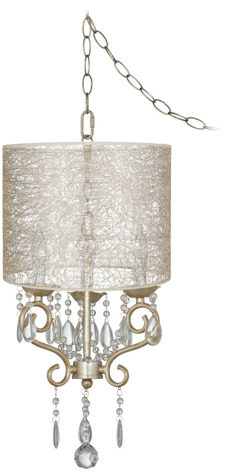 Conti 14 wide transparent fiber shade mini swag chandelier home conti 14 wide transparent fiber shade mini swag chandelier aloadofball Images