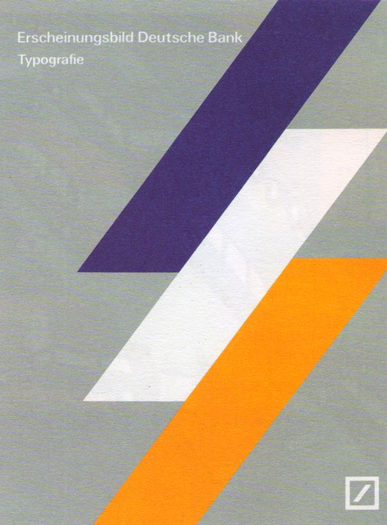 Cover to Deutsche Bank identity guidelines for the use of