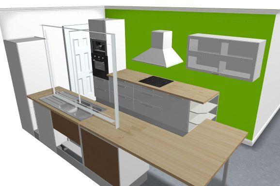 chgt plan de travail et suppression meuble haut côté évier cuisine